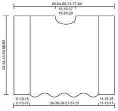 Poncho de punto DROPS con patrón de grecas y cuello amplio en punto musgo, en Alpaca y Kid-Silk. Talla: S – XXXL. Patrón gratuito de DROPS Design.