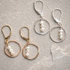 Freshie and Zero Treble Pearl Earrings