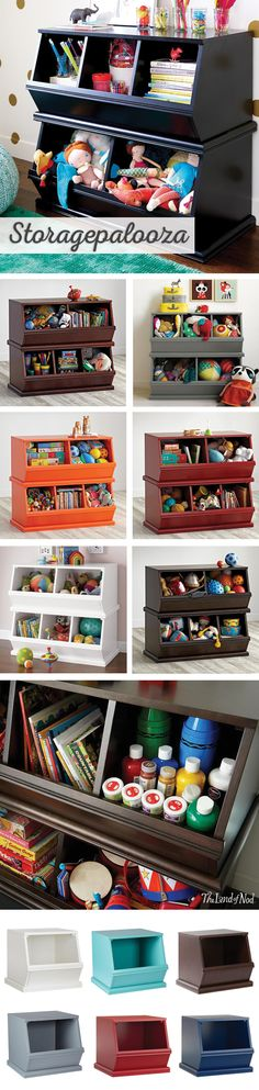 It's easy to clear the clutter with the help of our Storagepaloozas. This collection of practical kids furniture features some of our most popular storage items. Functional and available in tons of colors and sizes, the ample space means toys, books and games can all be safely stored at once. Add one (or two) to the playroom or kids bedroom and clean up will be a breeze.