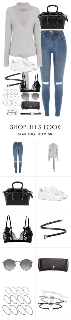 """Untitled#4545"" by fashionnfacts ❤ liked on Polyvore featuring River Island, Lavish Alice, Givenchy, adidas, Yves Saint Laurent, Ray-Ban, H&M, ASOS, Topshop and Daniel Wellington"