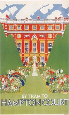 London Underground - Hampton Court 1927 LU056 Print Poster A4 A3 A2 A1