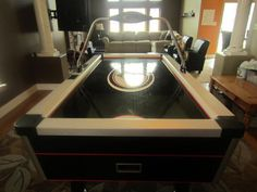 Easton air hockey table Air Hockey, I Am Game, Game Room, Man Cave, Kitchen Appliances, Games, Table, Diy Kitchen Appliances, Home Appliances