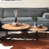 The industrial coffee tables Lara are beautiful handmade coffee table sets. D … – Woonkam… The industrial coffee tables Lara are beautiful handmade coffee table sets. D … – Woonkam… – Germany uniek – Industrial Coffee Table Sets, 2 Coffee Tables, Decorating Coffee Tables, Coffee Table Design, Handmade Table, Decoration Table, Fashion Room, Home Living Room, Table Settings
