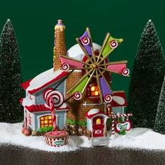 "Department 56: Products - ""The Christmas Candy Mill"" - View Lighted Buildings"
