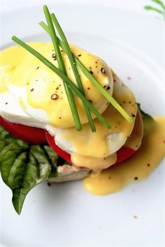 Caprese Eggs Benedict by The Curvy Carrot. I am inspired.