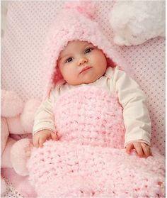 CrochetKim Free Crochet Pattern: Baby Clouds Cocoon @crochetkim