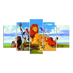 The Lion King Simba Timon And Pumbaa Animation Canvas Print