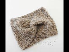 Easy Crochet Twisted Headwarmer + Chart for All Sizes Crochet Twist, Easy Crochet, Crochet Hooks, Crochet Baby, Knit Crochet, Crochet Patterns For Beginners, Crochet Tutorials, Seed Stitch, Twist Headband