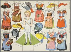 Costumes Suisse | paper doll