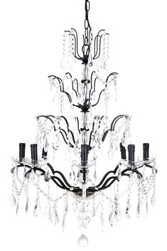 Instil classic elegance in your space with the antique black iron, 8 arm chandelier handcrafted with flecks of gold and clear crystal beading and drops. Clear Crystal, Crystal Beads, Crystals, Chandelier Lighting, Chandeliers, Mirrored Furniture, Mirrors Online, Classic Elegance, Pendant Lamp