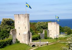 The 3.6 km long ring wall in Visby, Gotland