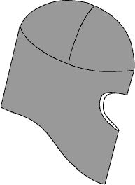Pattern for a balaclava for wintertime running.
