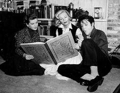 lizabeth-scott:Lizabeth Scott, Dolores Hart and Elvis Presley behind the scenes of Loving You, 1957 - Sources: (x) - (x) - (x) - (x)