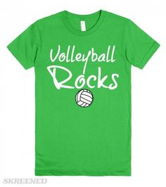 VOLLEYBALL ROCKS AMERICAN APPAREL T SHIRT | VOLLEYBALL ROCKS!!