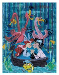 Disney Animation Art: Awesome Kiss the Girl Little Mermaid Art on Princess Disney Disney Artwork, Disney Fan Art, Disney Love, Disney Magic, Disney Pixar, Disney Kiss, Disney Stuff, Disney Parks, Little Mermaid Art