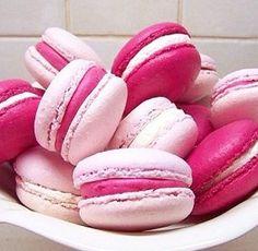 Pink macarons.