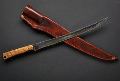 The Red Forgeworks Fillet Knife is a slice of pure brawn and beauty. Catching fish is one thing but preparing the fish is a whole other skill set. Enter the Damascus fillet knife by Red Forgeworks,… Cool Knives, Knives And Swords, Camping And Hiking, Hiking Gear, Zombie Weapons, Zombie Apocalypse, Samurai, Fillet Knife, Great Cuts