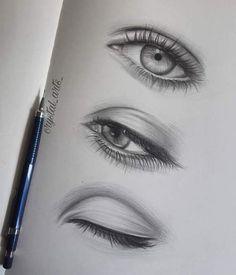 Eye drawings and sketches eye drawings, pencil drawings, eyes artwork, eye sketch, Eye Pencil Drawing, Realistic Eye Drawing, Drawing Eyes, Pencil Art Drawings, Art Drawings Sketches Simple, Easy Drawings, Art Du Croquis, Eye Study, Eyes Artwork