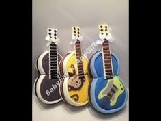 Guitar Diaper Cake, baby shower gift ideas, centerpieces, table decorati...