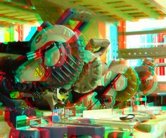 Power Saws 3D anaglyph red blue