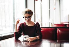 City Fashion Food: 1950's Vintage Mod Fashion Cat Eye Clear Lens Glasses 8435