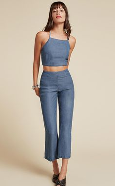Blue-Jean Baby from Matching Sets = Instant Outfits  Reformation Clover Two Piece, $198