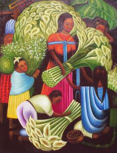 Image detail for -Mexican Art Oil Painting #900:Diego Rivera Mexican Art Flower Ve
