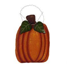 Burlap Pumpkin Wall Hanging Sign www.trendytree.com