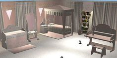 Mod The Sims - Continuation of the Marble/Pink Set-Child Bedroom Set