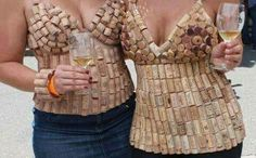 Pop the corks, drink the wine.  Then do what comes naturally...craft a new top!