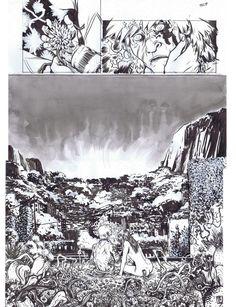 Flourescent Black splasy for Heavy Metal by Nathan Fox Comic Art