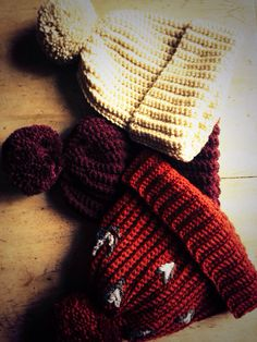 Handmade beanie Pom Pom hats by The Alley Alley Oh @thealleyalleyoh at ManBeeCo @manchesterbeeco