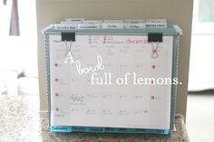 Mobile Command Center  Sometimes you need to be organized on the move. Try this!  Learn how at A Bowl Full of Lemons