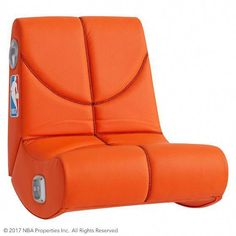 Pottery Barn Teen Nba(C) Mini Rocker Speaker Chair, Orange - - Cave Chair, Bedroom Chair, Bed Room, Bedroom Furniture, Furniture Design, Pb Teen, Brown Accent Chair, Accent Chairs, Living Room Chairs