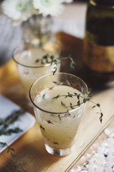 Pear Nectar and Thyme Mimosa | Sous Style #food #drink #cocktails