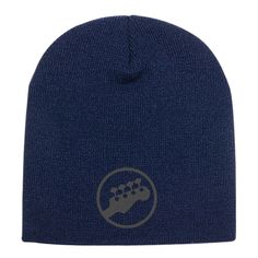 Guitar Embroidered Knit Beanie