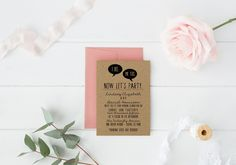 DIY Wedding Invitation Suite I Do Me Too DEPOSIT Printable