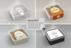 Buy Clear Packaging MockUps 01 by incybautista on GraphicRiver. Volume Clear Plastic Food Containers Packaging Mock Up Collection________________________________________________. Food Box Packaging, Dessert Packaging, Packaging Stickers, Bakery Packaging, Cookie Packaging, Food Packaging Design, Bread Packaging, Packaging Ideas, Branding Design