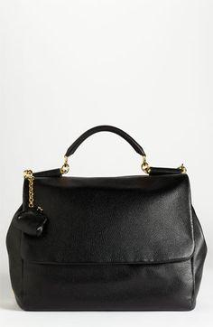 dolce & gabbanna miss sicily satchel in black