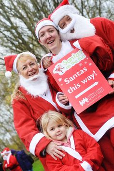 Pictures: Over £4,000 raised for Children's Hospice South West at Taunton's Santa on the run (From This is The West Country)