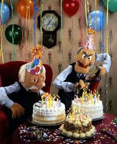 Statler and Waldorf Happy Birthday Statler and Waldorf Happ. - - Statler and Waldorf Happy Birthday Statler and Waldorf Happ… Geburtstagsgruß Statler and Waldorf Happy Birthday Statler and Waldorf Happy Birthday Funny Happy Birthday Meme, Funny Happy Birthday Pictures, Happy Birthday Greetings, Funny Birthday Cards, Birthday Wishes, Birthday Memes For Men, Birthday Quotes, Funny Happy Birthday Gif, Birthday Parties