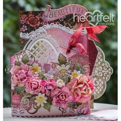 Heartfelt Creations - Beautiful Pink Rose Foldout Card Project