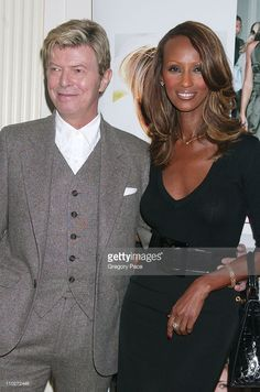 David Bowie and Iman, Cosmetic Executive Women Achiever Award Winner