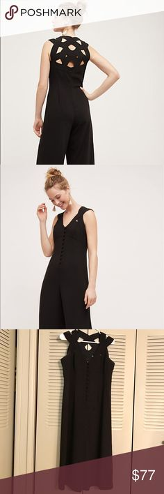 """Anthropologie Departure Jumpsuit Size 8P. Inseam shortened to 18"""". Excellent condition -- only worn once! By HD in Paris. Love it so much, but it's just a little too big for me. Anthropologie Pants Jumpsuits & Rompers"""