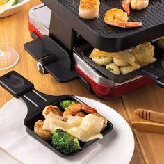 Raclette aux fruits de mer et beurre à l'ail Fondue, Ethnic Recipes, Sauce Alfredo, Party, Garlic Butter, Rice, Parties