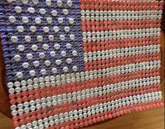 American Flag Recycled Budweiser Bud Light & by KarmaZKreations