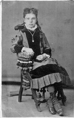 Anna Lines Taken About 1885 In Visalia California Ken Piper Carte De Visites