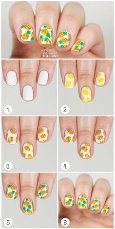 Nail art ananas