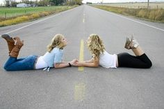 I really like this idea! (Not my picture)  Best friends photoshoot
