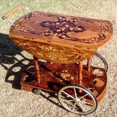 Tables - Elegant, Retro, Vintage Handmade Italian Art Deco Liquor Cart / Trolley for sale in Vereeniging (ID:190193716)
